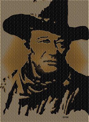 John Wayne Lives Poster by Robert Margetts