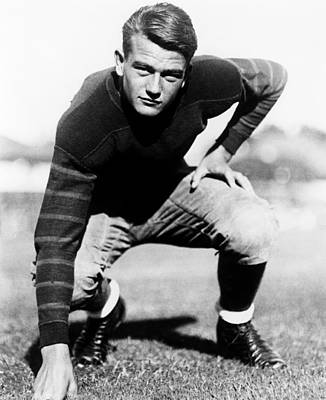 John Wayne, On The Usc Football Team Poster by Everett