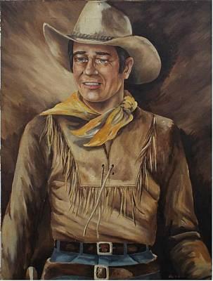 John Wayne The Young Man Poster