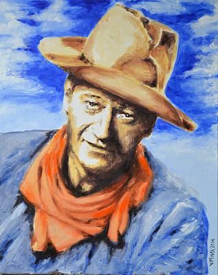 John Wayne Poster by Victor Minca