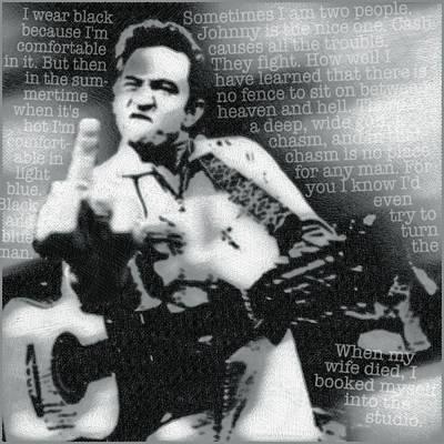 Johnny Cash Rebel Poster