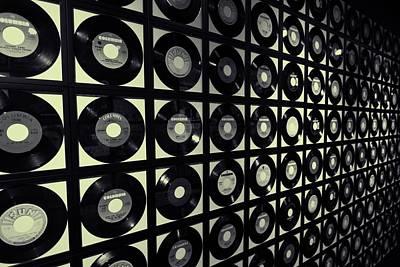 Johnny Cash Vinyl Records Poster