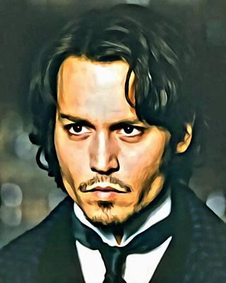 Johnny Depp Portrait Poster by Florian Rodarte