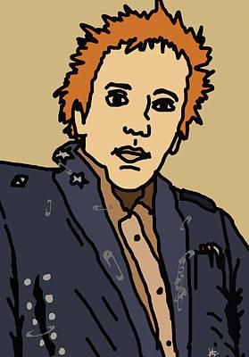 Johnny Rotten Poster by Jera Sky