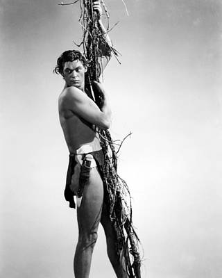 Johnny Weissmuller In Tarzan And His Mate  Poster