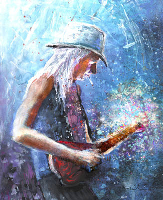 Johnny Winter Poster by Miki De Goodaboom