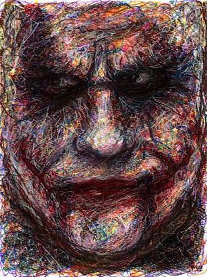 Joker - Face I Poster by Rachel Scott