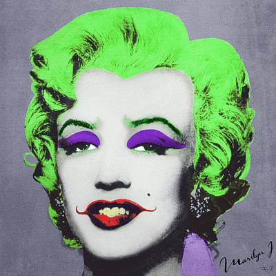 Joker Marilyn Poster by Filippo B
