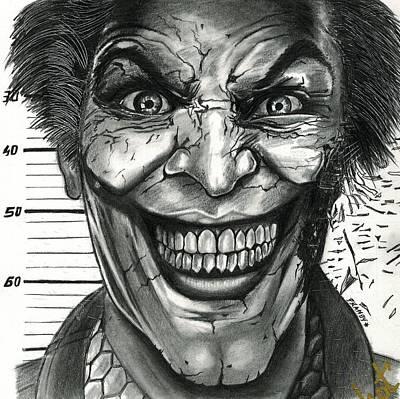 Joker Mugshot Poster by Pranoy Chowdhury