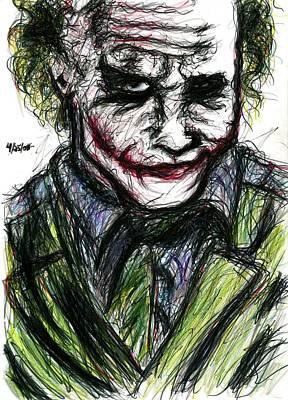 Joker - Smirk Poster by Rachel Scott
