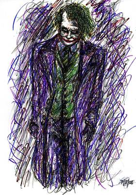 Joker - Standing Poster by Rachel Scott