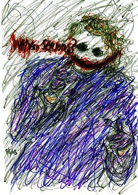 Joker - Why So Serious Poster by Rachel Scott