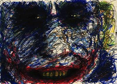Joker's Smile Poster by Rachel Scott
