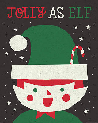 Jolly Holiday Elf Poster