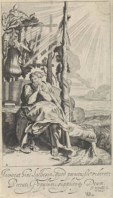 Jonas Under The Miracle Plant, Jan Van De Velde II Poster