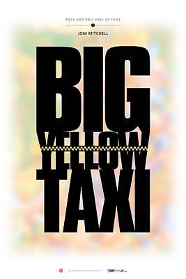 Joni Mitchell - Big Yellow Taxi Poster