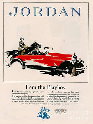Jordan 1926 1920s Usa Cc Cars Horses Poster by The Advertising Archives