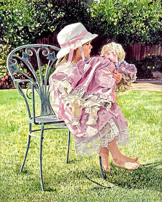 Jordan Foster - Garden Girl Poster by David Lloyd Glover