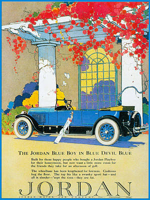 Jordan Motor Car Company Poster by Vintage Automobile Ads and Posters