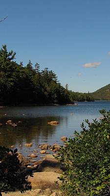 Poster featuring the photograph Jordan Pond Bar Harbor Maine by Jennifer Wheatley Wolf