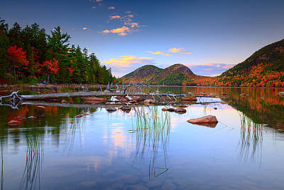 Jordan Pond In Fall Poster