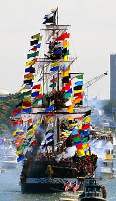 Jose Gasparilla Ship Work A Poster by David Lee Thompson
