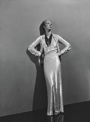 Jose-maria Sert Wearing A Chanel Dress Poster
