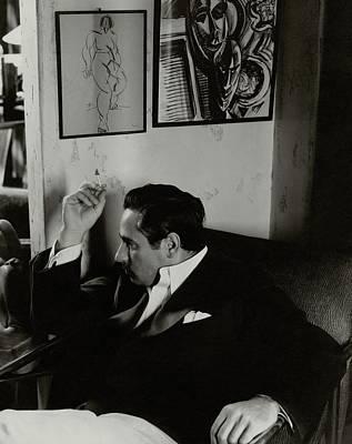 Josef Von Sternberg Smoking A Cigarette In An Poster