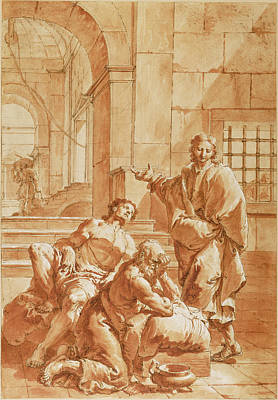 Joseph Interpreting The Dreams Of His Fellow Prisoners Poster by Litz Collection