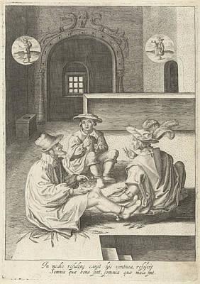 Joseph Interprets Dreams In Prison, Robert De Baudous Poster by Robert De Baudous And Lucas Van Leyden