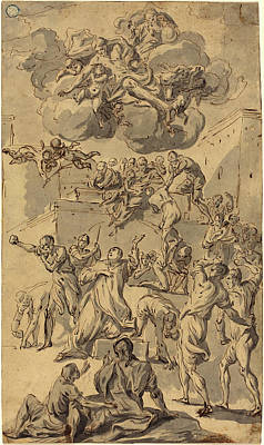 Joseph Parrocel, French 1646-1704, The Stoning Of Saint Poster by Litz Collection