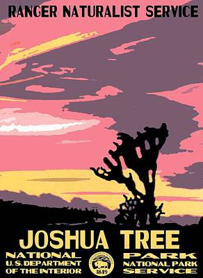 Joshua Tree National Park Vintage Poster Poster by Eric Glaser