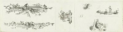 Journal With Five Vignettes And Initial, Willem Bilderdijk Poster