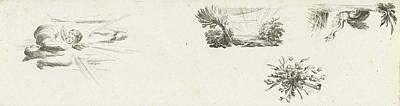 Journal With Four Vignettes, Willem Bilderdijk Poster