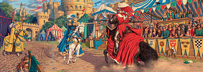 Jousting Knights Poster