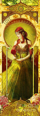Joy Faith Hope Love Iv Poster by Aimee Stewart