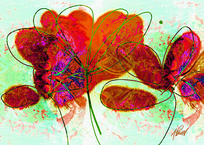 Joy Flower Abstract Poster by Ann Powell