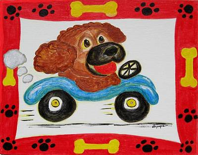 Poster featuring the painting Joy Ride by Diane Pape