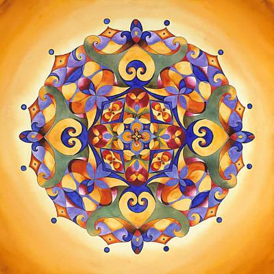 Joy - Solar Plexus Chakra Mandala Poster by Vikki Reed