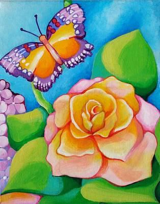 Joyful Garden #3 Lower Right Panel Poster