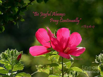 Joyful Hibiscus Garden Poster by Nava Thompson