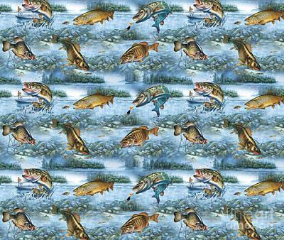 Jq Lake Fish Bedding Pillow Poster