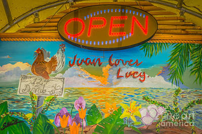 Juan Loves Lucy Key West - Hdr Style Poster by Ian Monk