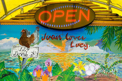 Juan Loves Lucy Key West  Poster by Ian Monk