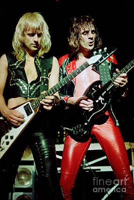 Judas Priest At The Warfield Theater During British Steel Tour Poster