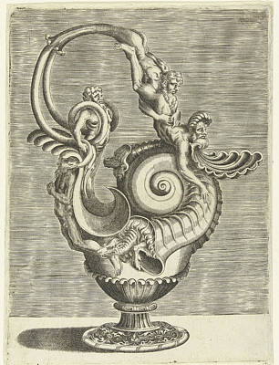 Jug In The Form Of A Volute, Print Maker Balthazar Van Den Poster