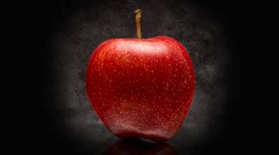 Aaron Berg Photography Poster featuring the photograph Juicy Red Apple by Aaron Berg