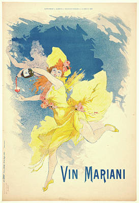 Jules Chéret French, 1836 - 1932. Vin Mariani Poster by Litz Collection