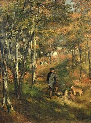 Jules Le Coeur In The Forest Of Fontainebleau, 1866 Poster by Pierre Auguste Renoir