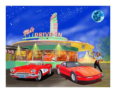 Julies Corvettes Poster by Jack Pumphrey